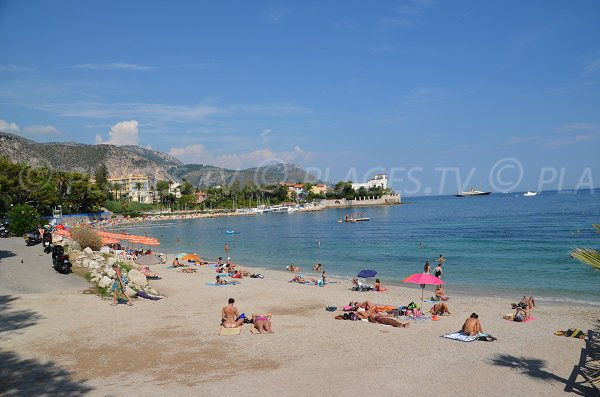 Public beach in Beaulieu sur Mer