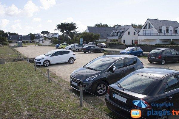 Parking de la plage de Fozo à St Pierre Quiberon