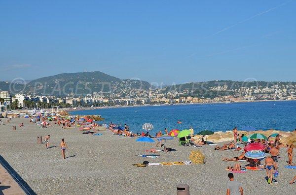 Beach in Fabron in Nice