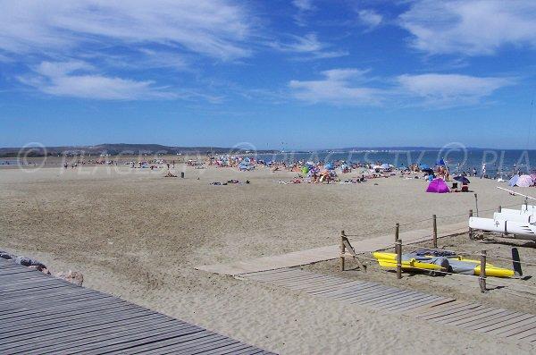 Photo de la plage du Franqui à Leucate