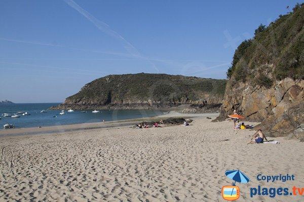 Fresnaye beach in Saint Cast le Guildo in Brittany