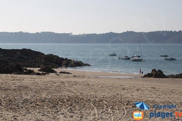 Fresnaye beach wit view on Fréhel peninsula