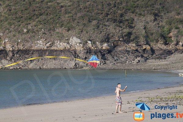 Activité sur la plage de Fresnaye - St Cast