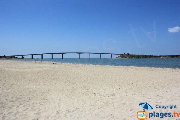 Plage de la Fromentine avec vue sur l'ile de Noirmoutier