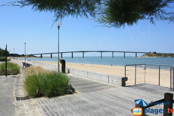 Promenade piétonne le long de la plage de Fromentine