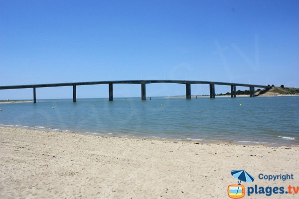 Bridge of the island of Noirmoutier in Fromentine