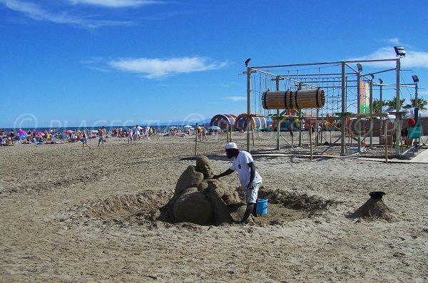 Parco giochi per bambini - spiaggia Port la Nouvelle