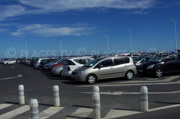 Parking au niveau du casino de Port la Nouvelle