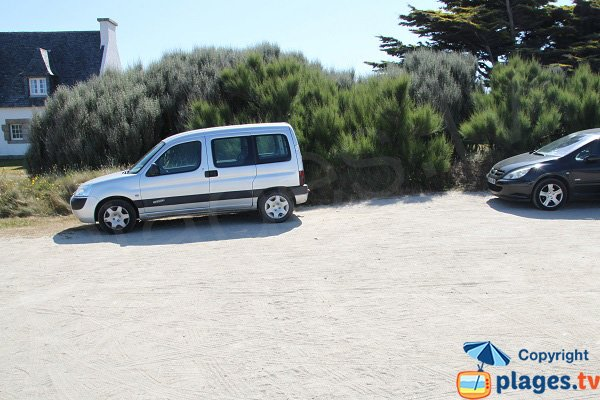 Parking de la plage de Frouden - Plouescat