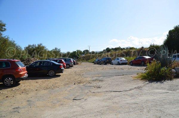 Parking de la plage de Funtanaccia