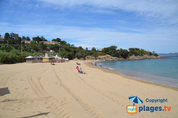 Sand beach in Les Issambres - South of France