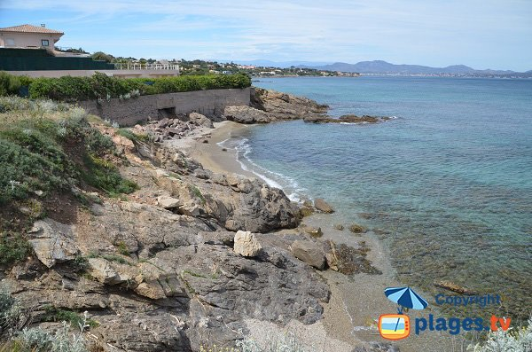 Cove around the Gaillarde beach - Les Issambres in France