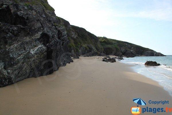 Crique de sable à Locmaria - Belle Ile en Mer