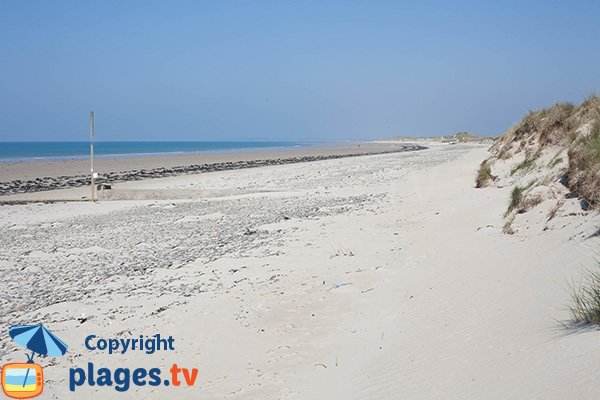 Plage de sable blanc à Glatigny - 50