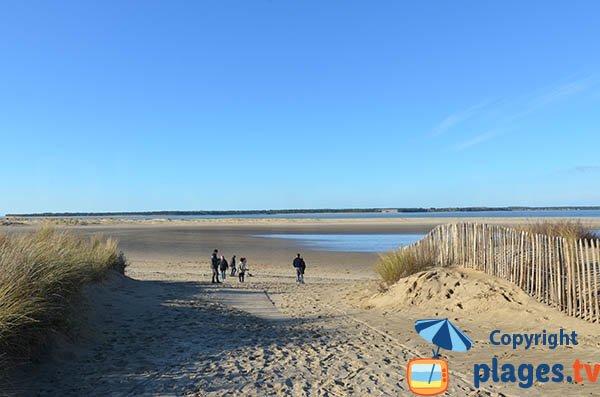 Accès à la plage du Galon d'Or à La Tremblade