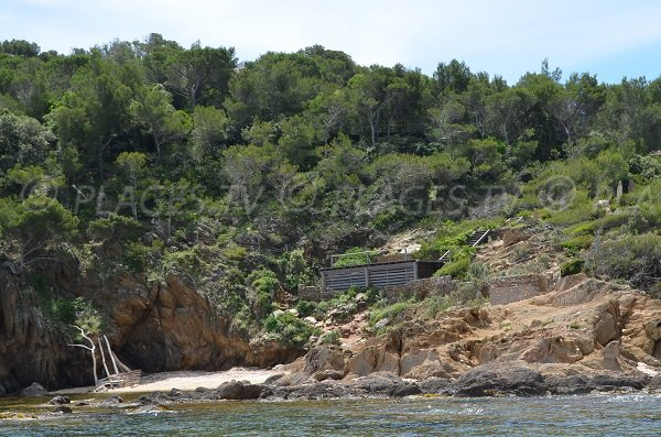 Calanque of Gaou in Bormes les Mimosas