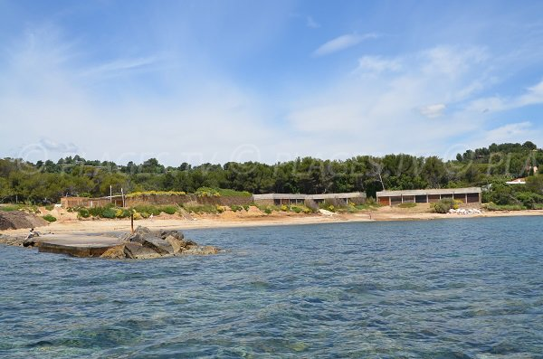 Gaou beach in Bormes les Mimosas - France