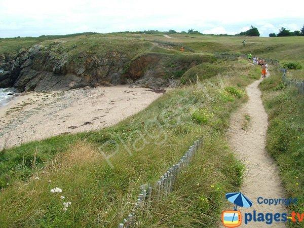 Sentier entre le golf de Dinard et la plage de la Garde - St Briac