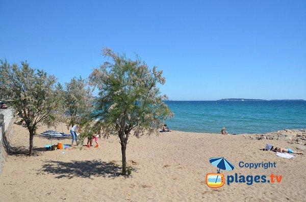 Plage de sable à proximité de Cannes