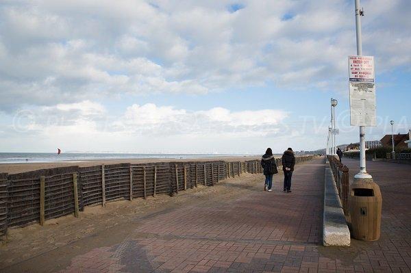 Pedestrian promenade along the sea in Benerville sur Mer