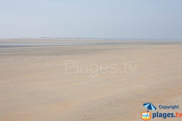 Plage des Garennes à Hauteville à marée basse