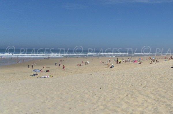 Large beach in Mimizan