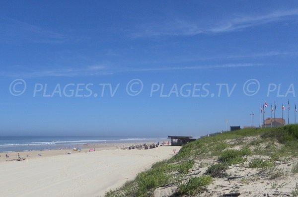 Garluche beach in Mimizan in France