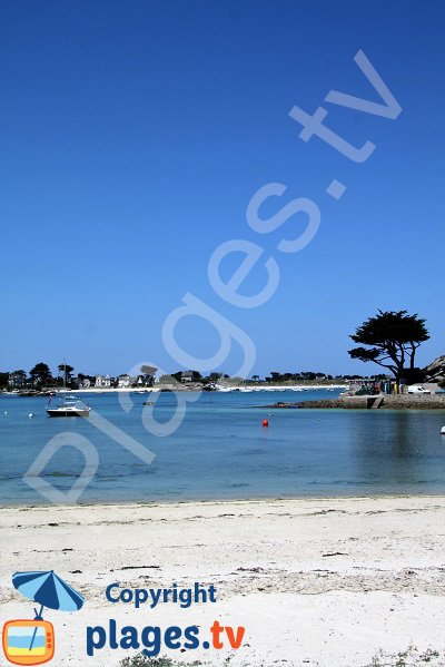Photo de la plage du centre ville de Brignogan-Plage