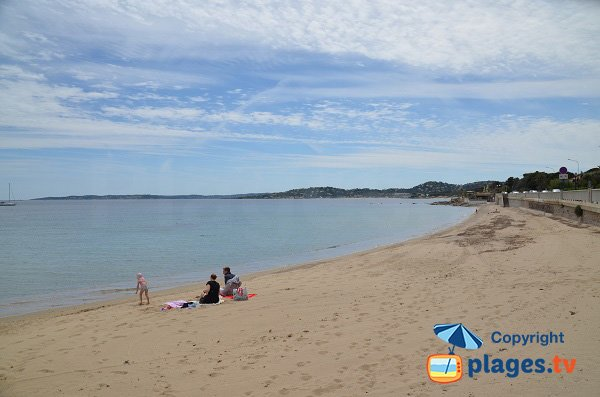 Photo of Garonnette beach in Sainte Maxime in France