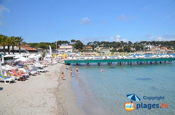 Private beach in Cap d'Antibes in France