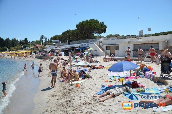 Photo de la plage publique du Cap d'Antibes - La Garoupe
