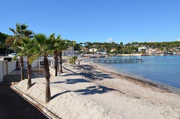 Spiaggia privata alla fine di Garoupe