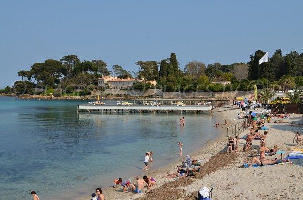 Public beach of Garoupe in Antibes
