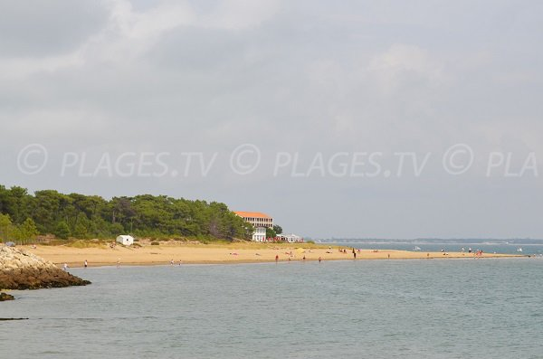 Gatseau beach in St Trojan les Bains in Oleron in France