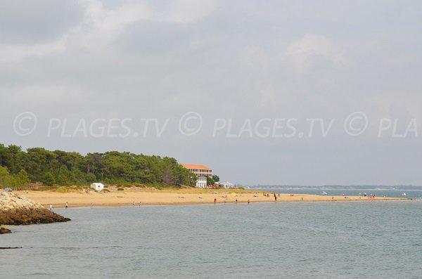 Gatseau beach in St Trojan les Bains in Oleron in France