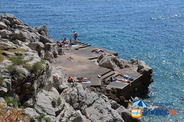Platform on the Cap Ferrat peninsula near Nice - France