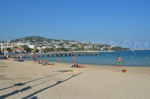 Gazagnaire beach in Cannes in France