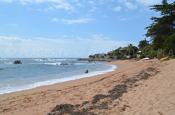 Photo de la plage de Ghiatone à Pietrosella (Corse)