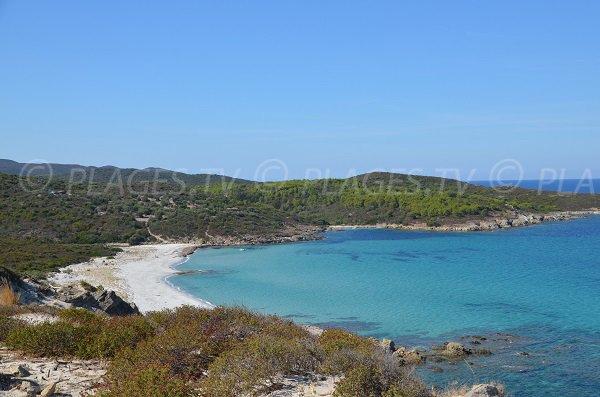 Photo de la plage de Ghignu dans le désert des Agriates en Corse