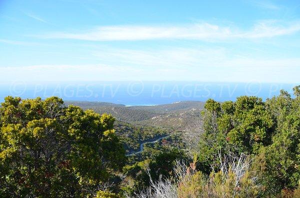 Piste d'accès à la plage de Ghignu en Corse