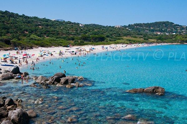 Photo de la plage de Ghjunchitu en Corse à proximité d'Ile Rousse