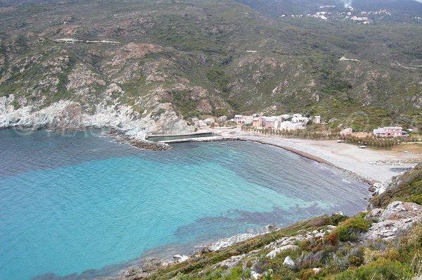 Photo de la plage de Giottani dans le Cap Corse