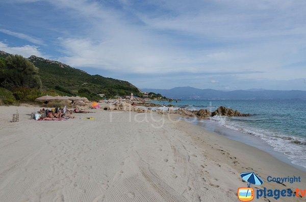 Photo de la plage du Goeland à Ajaccio