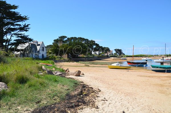 Beach at the beginning of Renote island - Goélands