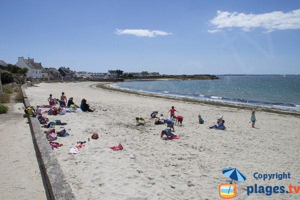 Goerem beach in Gavres - Brittany