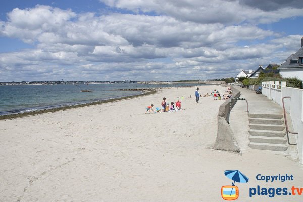City centre beach in Gavres - Morbihan