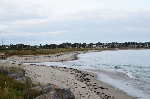 Photo de la plage des Govelins au niveau de l'étang de Kerpont - St Gildas de Rhuys