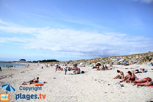Belle plage de sable à St Gildas de Rhuys - Goh Vehin