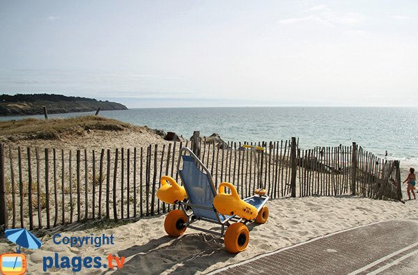 Tyralos sur la plage de Goh Velin - St Gildas de Rhuys