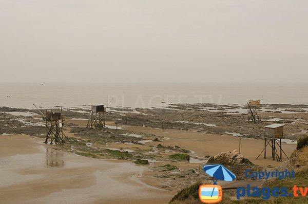 Pêcheries sur la plage de Gohaud à St Michel Chef Chef